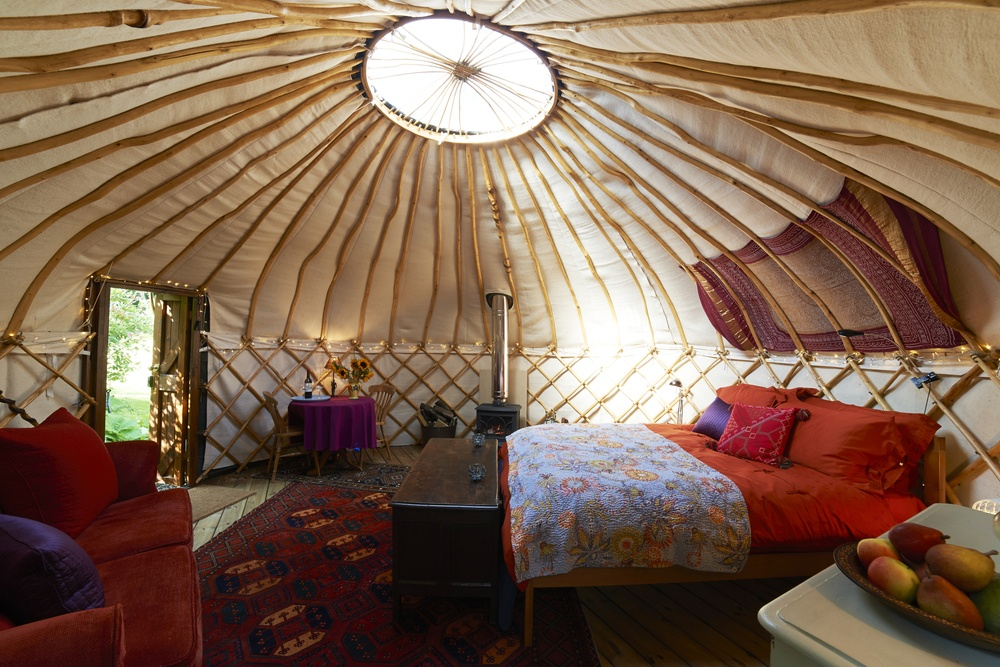 camping in yurts
