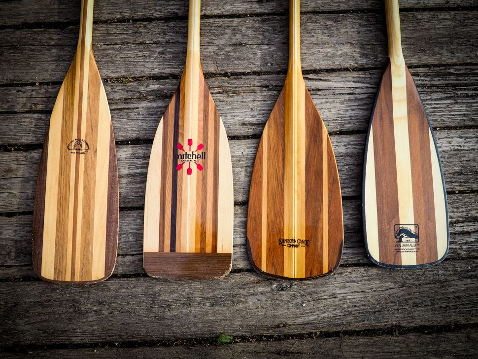 wooden kayak paddles