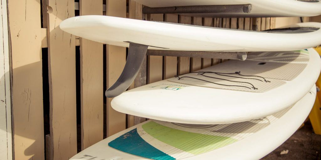 Storing a stand up paddle board