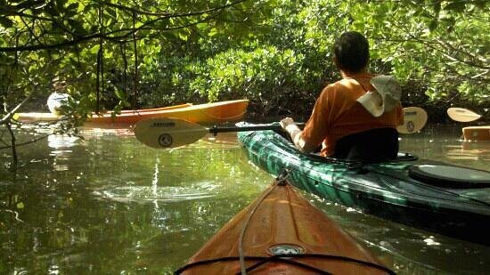 navigating a kayak