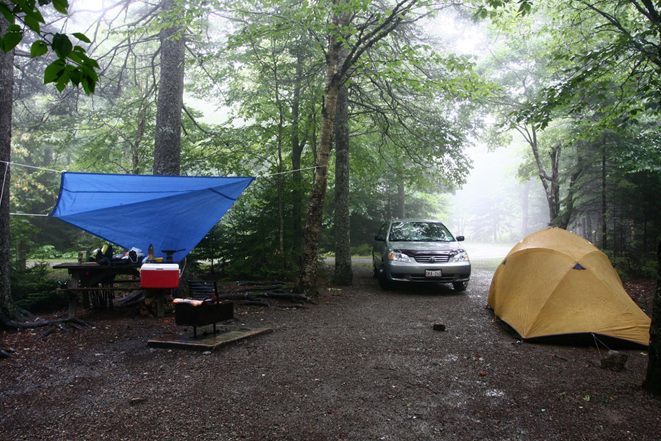 bad weather camping