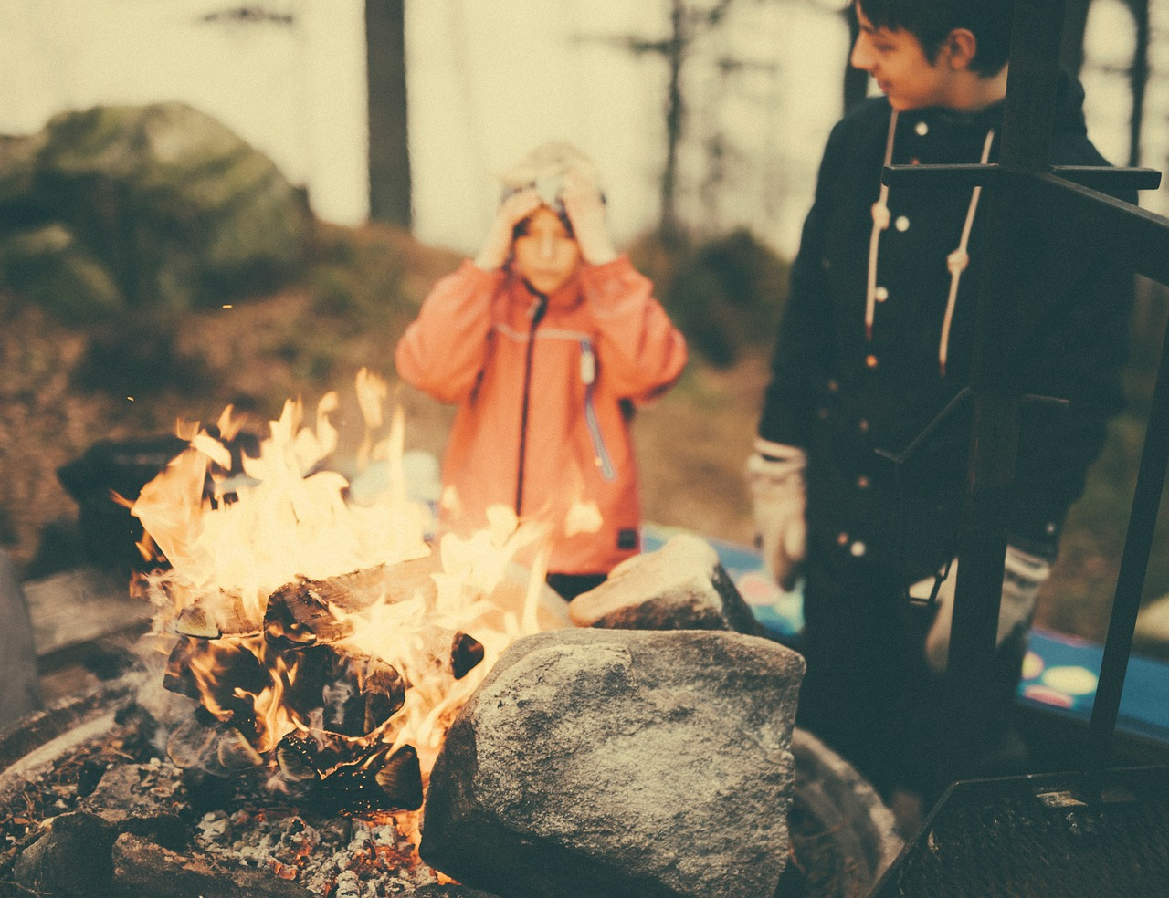 Always teach kids about fire safety before backyard camping