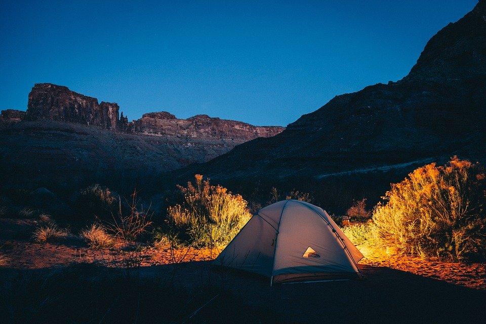 tent camping remote campsite