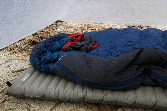 Sleeping pads inside a tent
