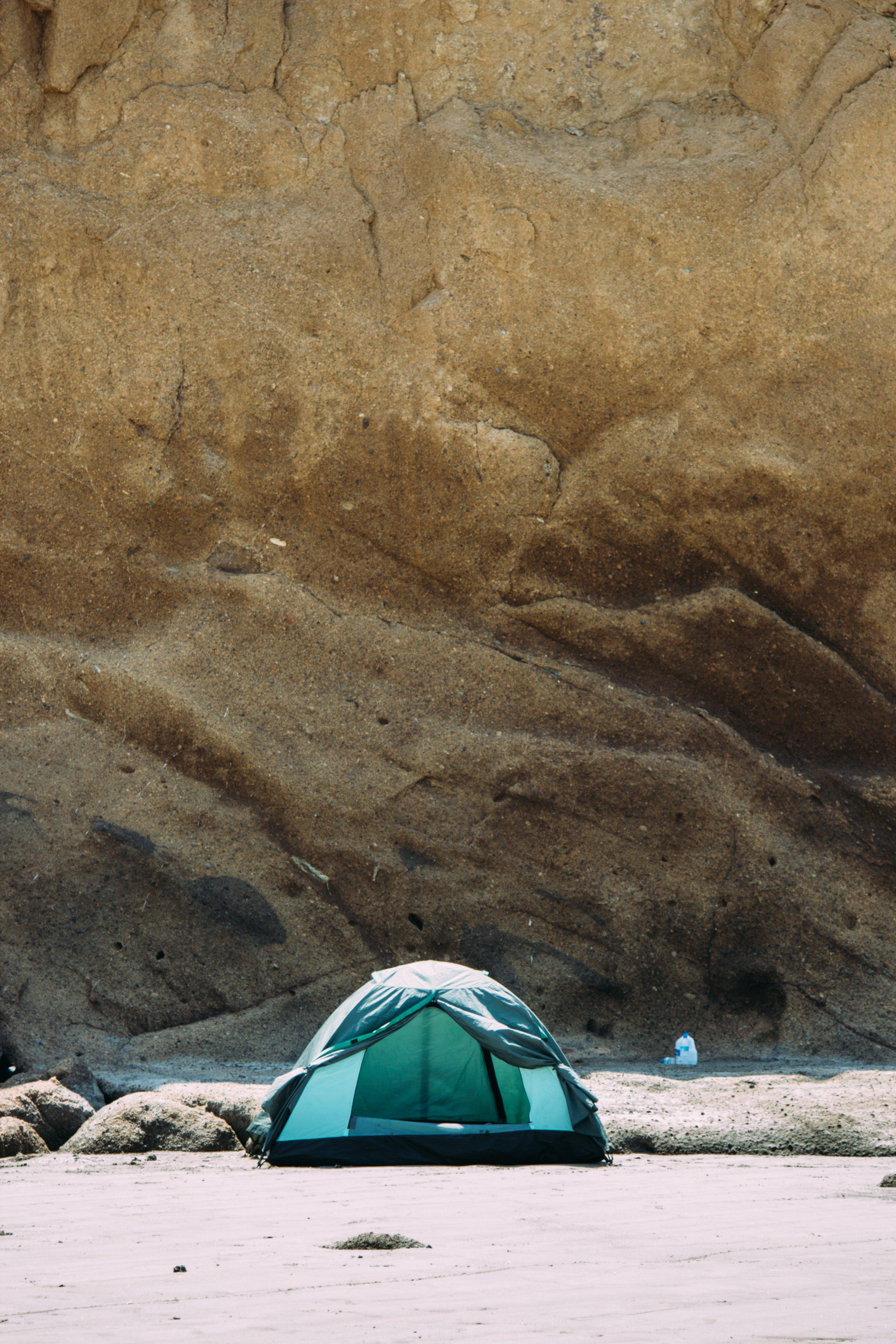 Cheap tent on a beach