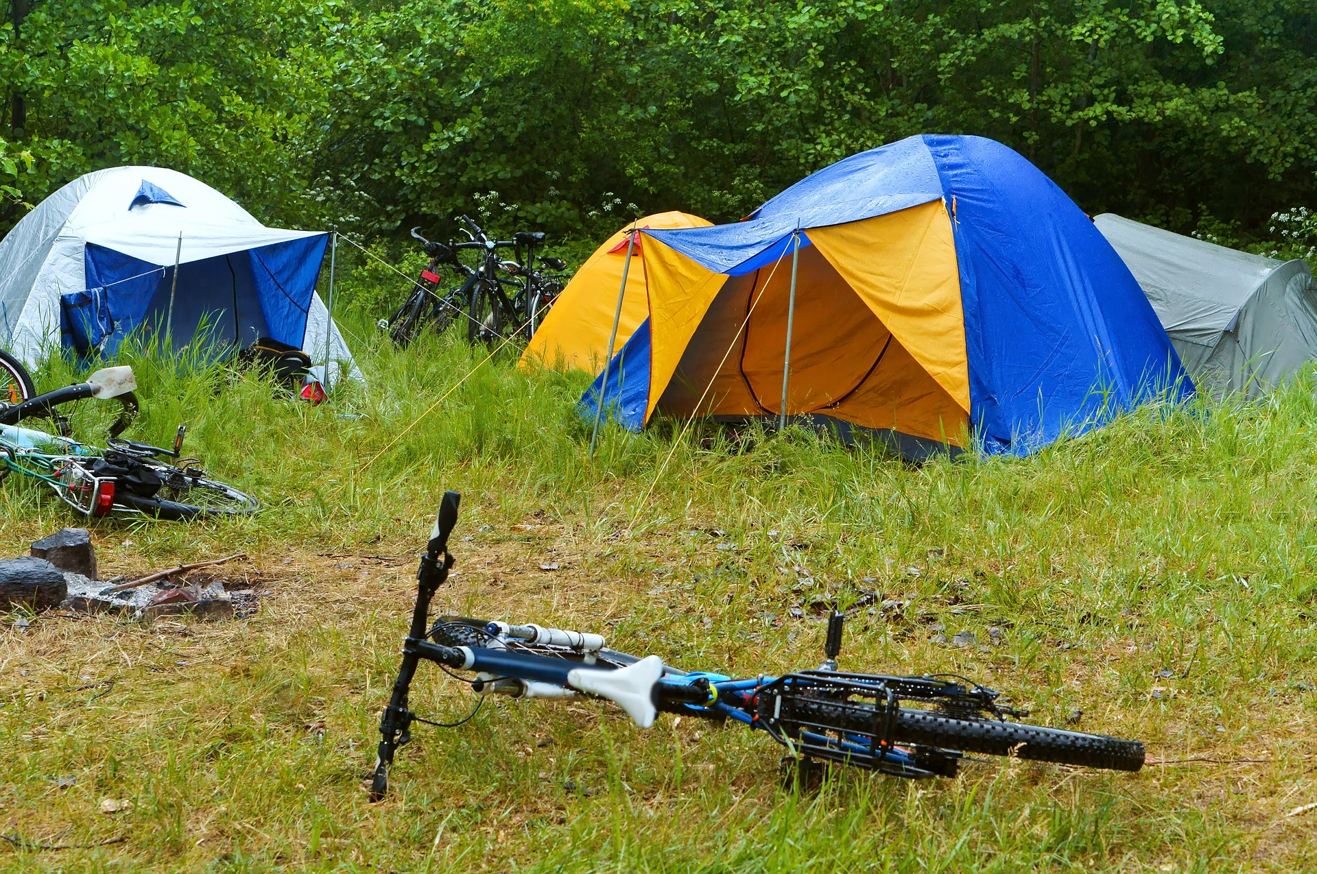 Best Tent for Rainy Weather and Some Bicycles in the Forest