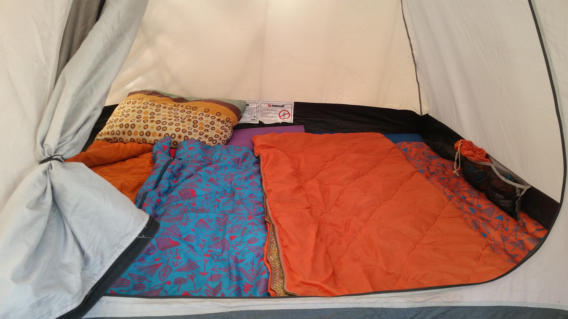 Lightweight Sleeping pad Inside a Camping Tent