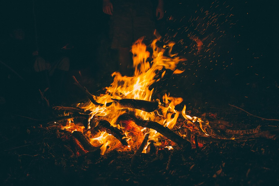 Photo of a bonfire