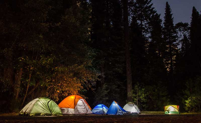 different tents