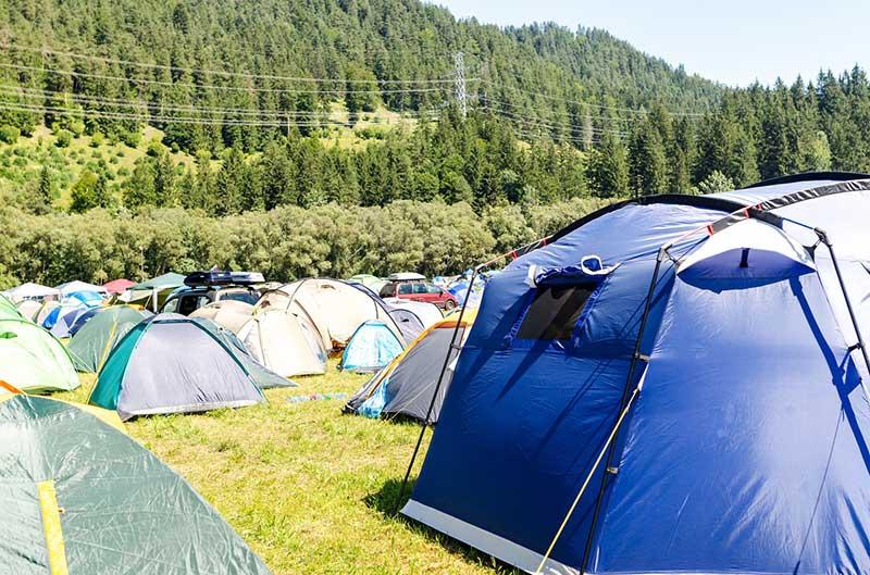 materials needed to arrange tent