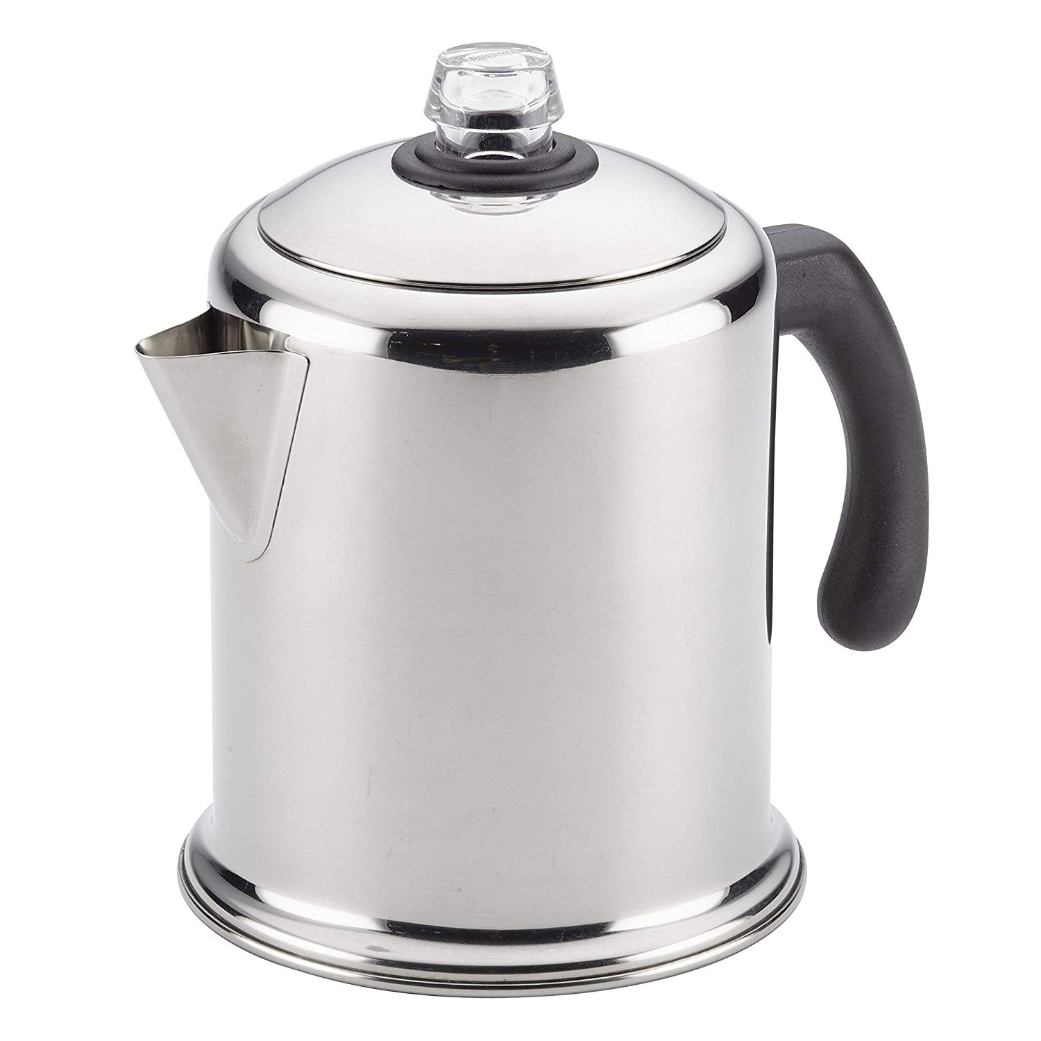 Farberware Classic Teakettles Yosemite, 12-Cup Stainless Steel Percolator camping coffee maker